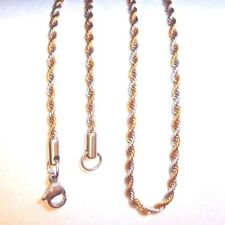 """Snap It Stainless Steel Two Tone 18"""" Rope Chain For Snap It Pendants"""