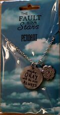 """The Fault In Our Stars PENDANT - """"Maybe OKAY will be our ALWAYS"""" - New & Sealed"""