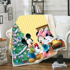 Mickey Mouse Nice Christmas Tree 3D Warm Plush Fleece Blanket Picnic Sofa Couch