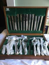 More details for vintage viners studio gerald benny bark stainless steel cutlery 81 pieces