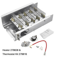Dryer Heating Element 279838 & Thermostat Kit 3403585 For Whirlpool For Mayta