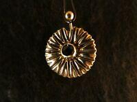 Piercing 24 Karat Gold Anhänger 925 Silber Sonnenblume Bauchnabel Stein Grün