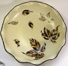 French Art Faience Autumn/Automn Centerpiece by Longwy c.1940s