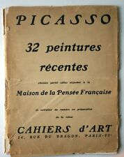 Rare PICASSO 32 RECENT PAINTINGS- CAHIERS D'ART 1949 * VERY RARE *