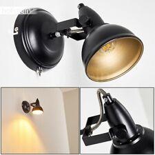 Schlaf Wohn Zimmer Beleuchtung Flur Strahler schwarz/gold Vintage Wand Lampen