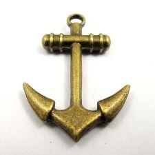 30pcs Vintage Bronze Alloy Boat Anchor Dangle Pendants Charms Crafts Findings