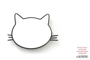 Safety Mirror Kitty Black with LED light - Nursery Kid Mirror - Wall Decor