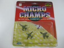 3-VINTAGE DIL MICRO CHAMPS AVIONES-COMPATIBLE CON MICROMACHINE Y TENTE-OLD STOCK