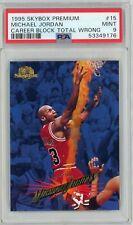 1995-96 SkyBox Premium #15 Michael Jordan UER/Career block total is wrong PSA 9