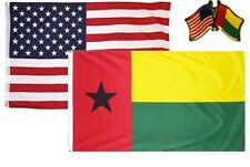 Wholesale Usa & Guinea Bissau Country 2x3 2'x3' Flag & Friendship Lapel Pin
