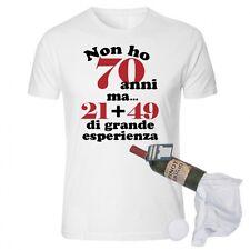 T-shirt in bottiglia compleanno 70 anni spiritosa e divertente idearegalo
