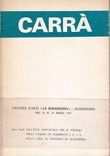 Carlo Carrà Mostra ad Alessandria 1976  X Anniversario della morte La Maggiolina