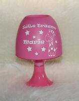 Kinderlampe - Giraffe - Süße Träume - mit Wunschname rosa