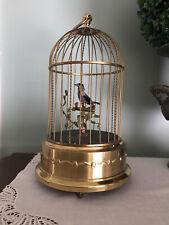 Vintage German Karl Griesbaum Singing Bird Cage Music Box Signed Ken D.