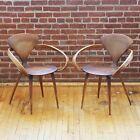 Plycraft Plywood Pretzel Chairs Norman Cherner Rare Matching Pair Original Set