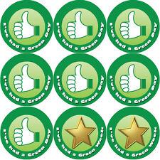 144 Green Day / Week (Its Good to be Green) 30mm Kid's Reward Teacher Stickers
