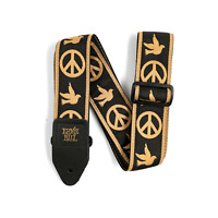 Ernie Ball Jacquard Guitar Strap - Peace, Love, Dove, P04613