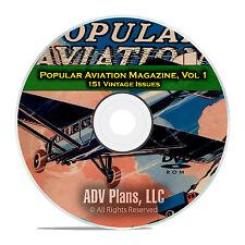 Popular Aviation Magazine, Vol 1, 151 Issues, 1927-1944, American Flight DVD D07