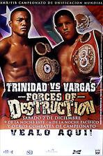 Felix Trinidad vs. Fernando Vargas Original Vintage Boxing Fight Poster