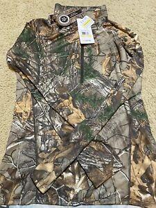 Under Armour Women's Tech 1/2 Zip Camo Long Sleeve Top 1264624 Realtree Size M