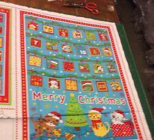 Kitty Cat Christmas Advent Calendar 100% Cotton Quilting Panel Fabric