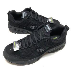 Skechers Vigor 2.0 Trait Black Shoe Men Sz 10.5 Memory Foam Comfort Casual 51241