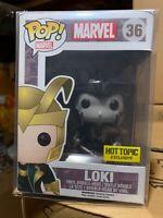 FUNKO POP! Loki Avengers Black & White 36 Thor Marvel NEW PROTECTOR VAULTED