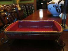 Large Northern Lodge stoneware baking dishware baking dish with rack. Perfect.
