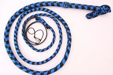 Bullwhip 8 Feet Long,shot Loaded 12 Plait Nylon Weaving Blue & black Real Whip