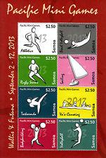 Samoa 2013 MNH Pacific Mini Games 8v M/S Rugby Taekwondo Sailing Stamps