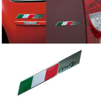 Italy Italian Flag Logo Emblem Metal Alloy Badge Car Motorcycle Decor Stickers