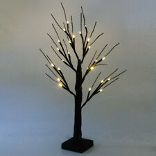 2Ft LED Birch Tree Lights Pre Lit Twig Tree Black Halloween Christmas Decoration