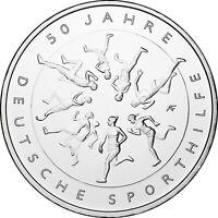 Deutschland 20 Euro 2017 50 Jahre deutsche Sporthilfe Silbermünze bankfrisch