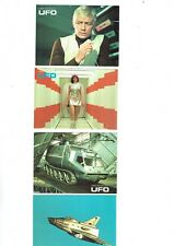 UFO Gerry Anderson TV series Postcards x 4  VFN  F1