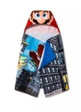 Super Mario Hooded Towel Wrap 24in x 50in-New