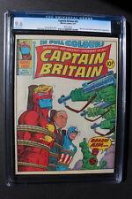 CAPTAIN BRITAIN #23 Capt America RED SKULL Callaghan 1977 Low Print CGC NM+ 9.6