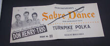 x  DON HENRY  TRIO POLKA -SABRE DANCE URNPIKE POLKA  record store poster