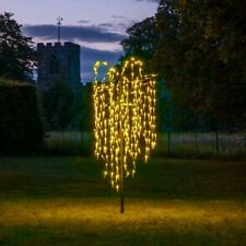 1.8m Plug In Pre Lit LED Willow Twig Christmas Tree Decoration Outdoor 300 LED