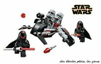 Speeder d'attaque de l'empire et son équipage type lego Star Wars état neuf!