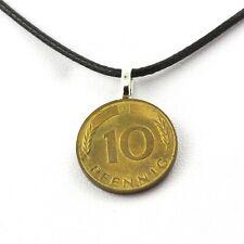 Collier pièce de monnaie Allemagne 10 pfennig