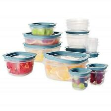 Rubbermaid Flex Seal 26 Piece Food Storage Container Set Easy Find Lids Blue