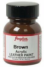 Angelus Acrylic Leather Paint Water Resistant  Brown- 1 Fl.OZ