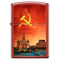 """Zippo Lighter """"Red Square Moscow"""" Matter 233 Soviet Design USSR Lenin Stalin"""