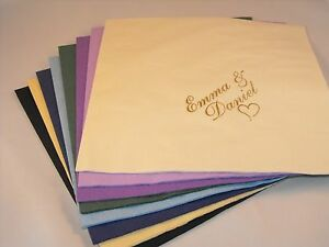 100 x  Personalised luxury Dinner 3 Ply  Wedding  Napkins