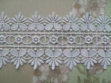 "Beautiful White  GUIPURE/VENISE Lace Trim  3""  Bride/Wedding/Card/Cotume"