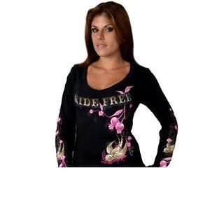 Ladies Cherries Scoopneck Longsleeve T-Shirt