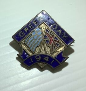 VINTAGE GREEK DAY 1941 Badge Pin Angus And Coote Sydney RARE