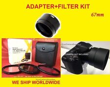 LENS ADAPTER To CAMERA NIKON COOLPIX P500 P510 P520 P530+FILTER KIT UV CPL 67mm