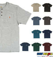 Carhartt K84 Men's Henley Pocket T shirt Heavyweight Jersey cotton Top WorkWear