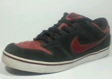 Nike 6.0 Dunk SE Low 407609-013 Black Maroon Red Suede Leather Mens 10.5 M Shoes